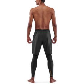 Skins Series-5 Superpose Long Tights Men, negro